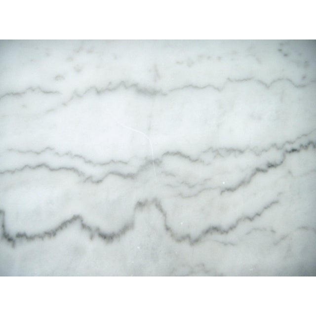 White Italian Marble Console/Bistro/Dining Table - Image 7 of 8