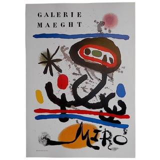 Vintage Miro Poster Lithograph