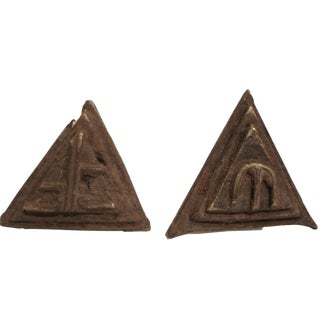 Akan Asante Triangular Gold Weight - A Pair