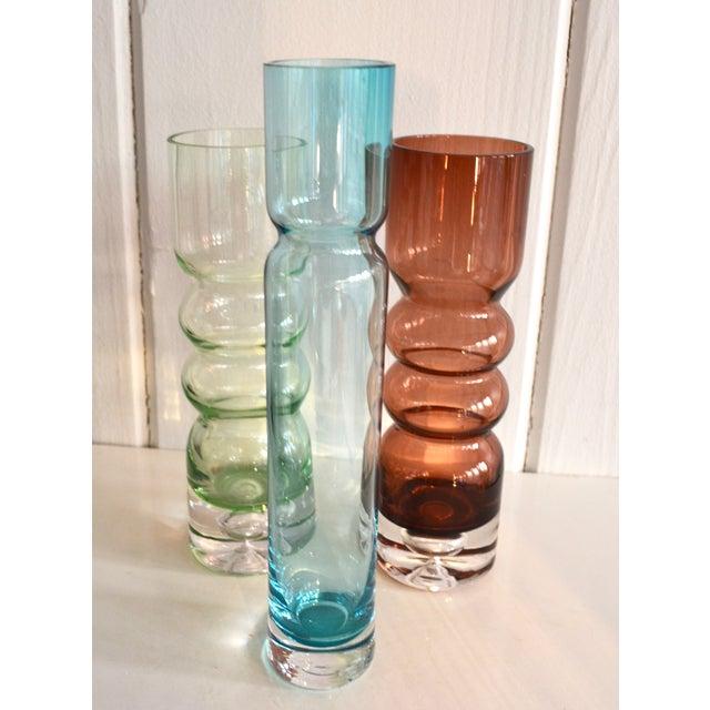 Mid Century Glass Vases - Set of 3 - Image 3 of 4