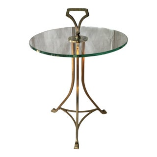Vintage Brass & Glass Side Table