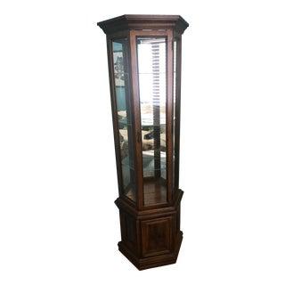 Wooden Corner Curio Case