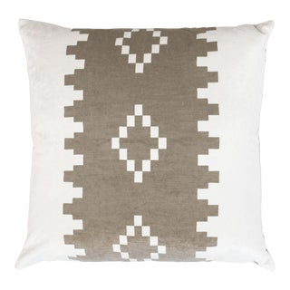 "Piper Collection Geometric Velvet ""Anna"" Pillow"