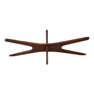 "Adrian Pearsall ""Jacks"" Walnut Table Base"