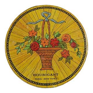 Vintage French Houbigant Flower Powder Box