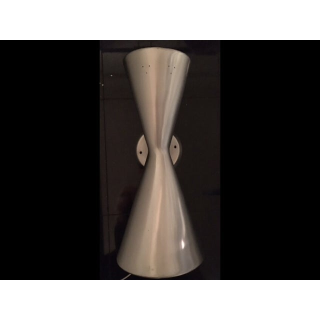 Mid-Century Aluminum Wall Sconce - Image 6 of 6