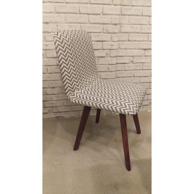 Walnut & Slate Chevron Dining Chair - Image 2 of 2