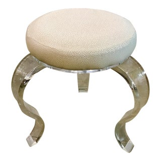 Knox Warren Modern Acrylic Stool