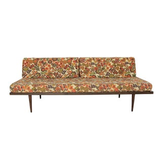 Mid-Century Modern Floral Day Bed Sofa