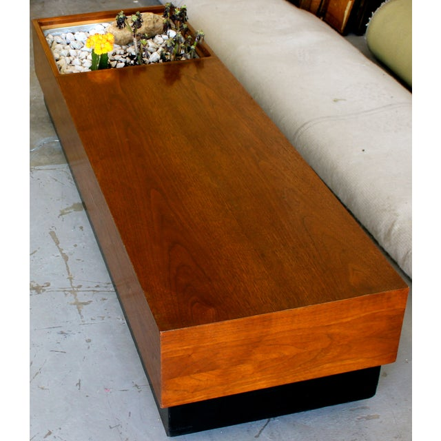 Mid Century Modern Coffee Table With Planter