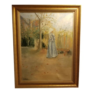 Oversize Mid-Century French Impressionism Study Painting