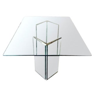 Leon Rosen Sculptural Glass Dining Table
