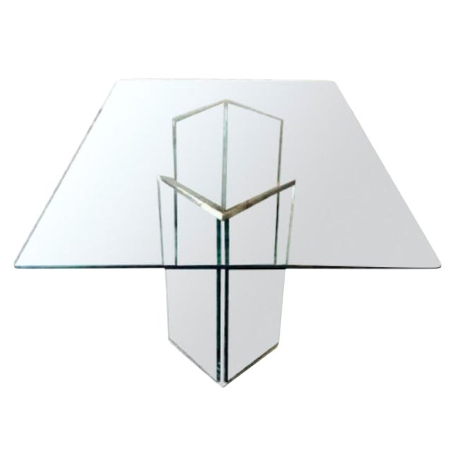 Leon Rosen Sculptural Glass Dining Table - Image 1 of 4