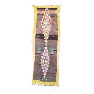 "Vintage Boucherouite Moroccan Rug - 3'1"" x 8'10"""