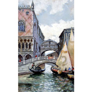 """""""Canals Venice, Italy"""" Painting"""