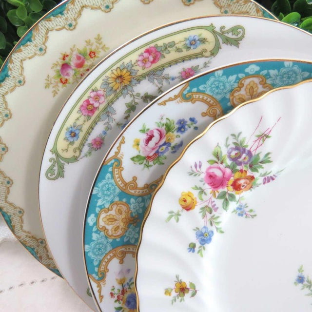 Vintage Mismatched China Dessert Plates - Set of 4 - Image 2 of 8