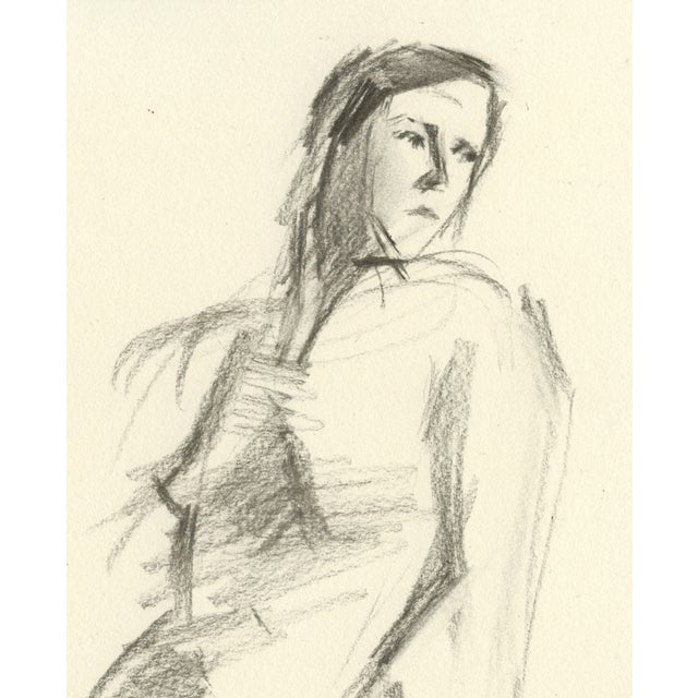 "Image of ""Rae"" Original Charcoal Drawing of Female Nude"