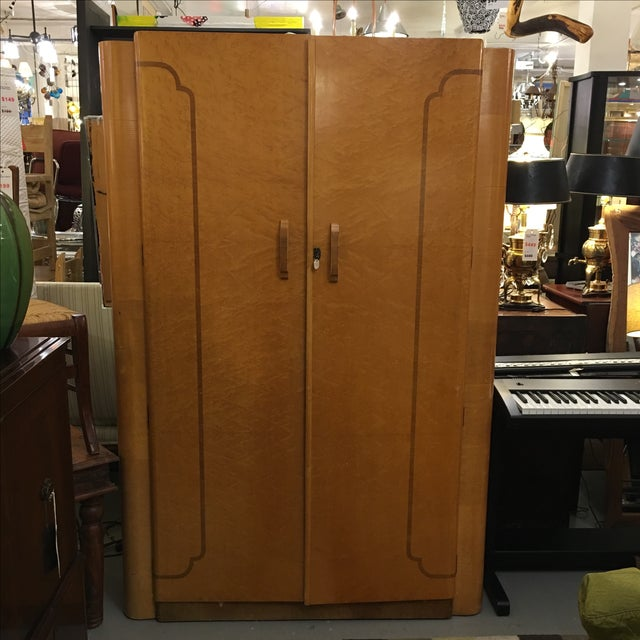 1920's Agran Clothing Armoire by London Furniture - Image 2 of 9