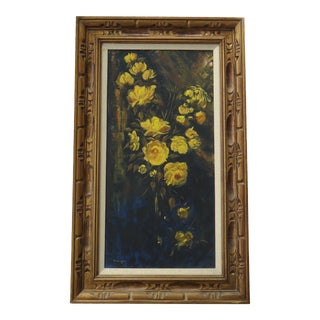 Vintage Yellow Roses Painting