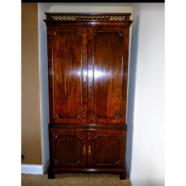 Vintage Century Cherry Wood Bar Armoire Cabinet - Image 2 of 11