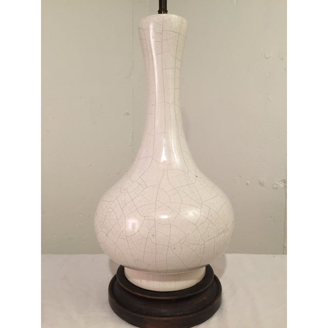 Image of Jean Michel Frank Style Crackle Glaze Lamp