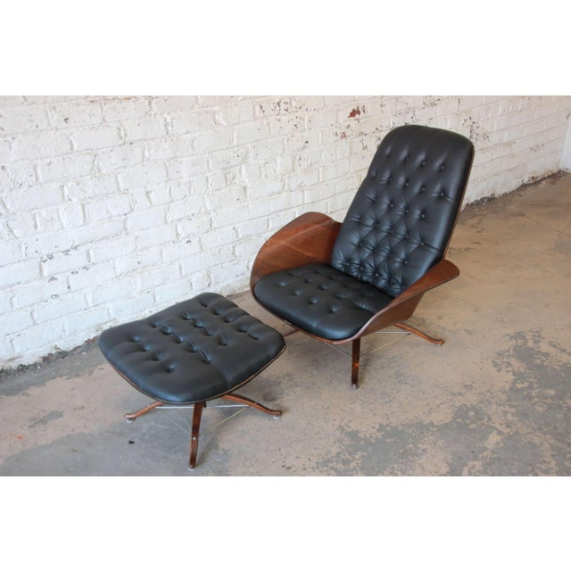 """George Mulhauser for Plycraft """"Mr. Chair"""" and Ottoman - Image 3 of 10"""
