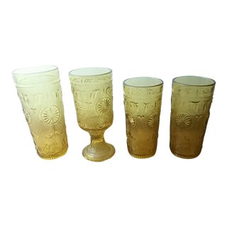 Amber American Concord Tumblers - Set of4