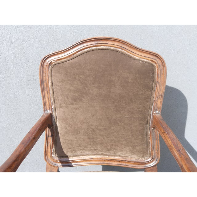 French Henredon Mohair Dining Chairs - Set of 6 - Image 6 of 11