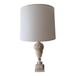 Vintage Neoclassical Marble Urn Form Table Lamp