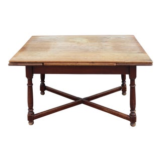 Mid-Century Criss-Cross Drop Leaf Table