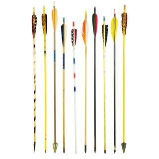 Vintage Colorful Wood Arrows - Set of 10