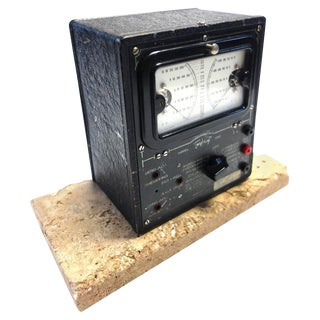 Universal Meter by Triplett Vintage Electric Meter Mounted As Sculpture. Circa 1934