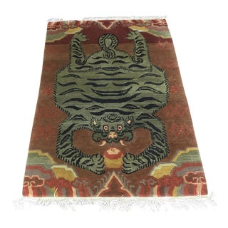 "Contemporary Tibetan Rug - 4'1"" x 6'2"""
