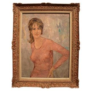 P. Gauthier Original Framed Oil on Canvas
