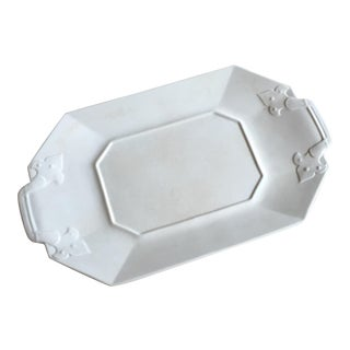 Crackled White Serving Tray