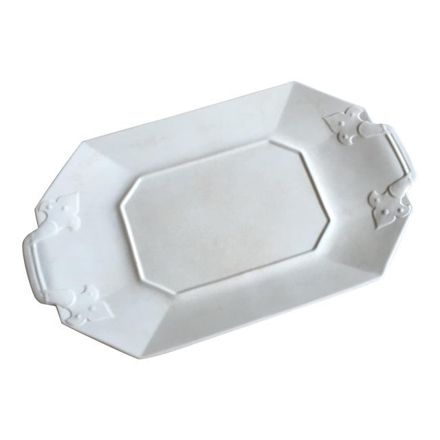 Crackled White Serving Tray - Image 1 of 5