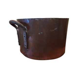Vintage Copper Pot, Rustic and Heavy
