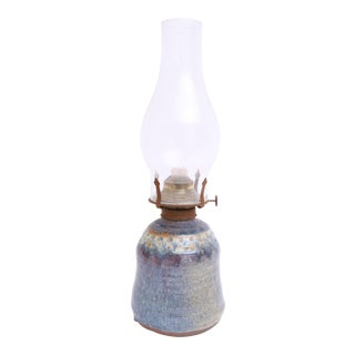 Mid Century Modern Ceramic Pottery Oil Lamp