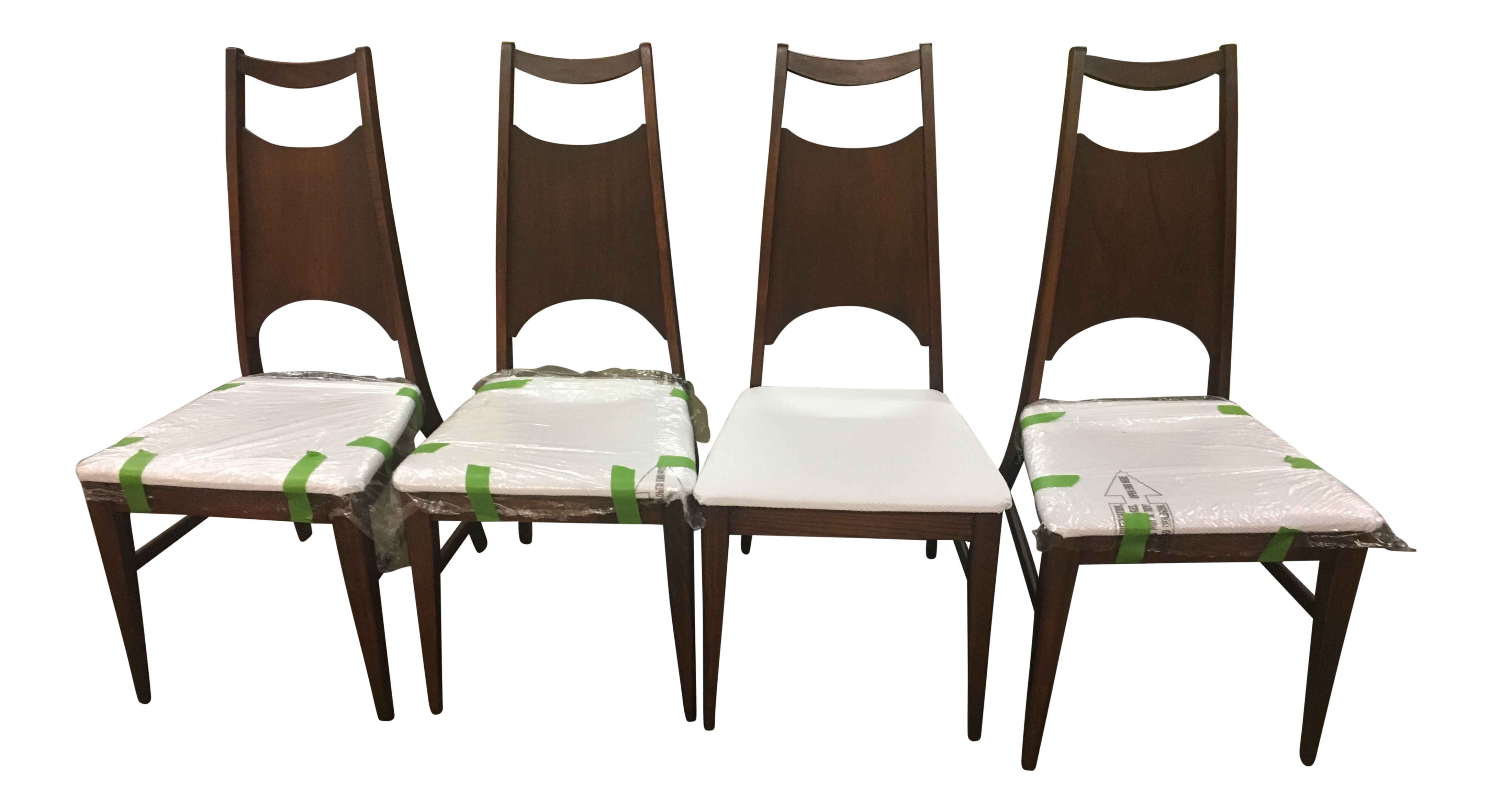Attractive Bassett Refurbished Dining Chairs   Set Of 4   Image 1 Of 9