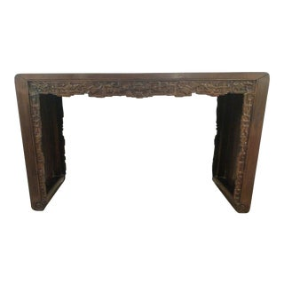Carved Asian Style Console Table