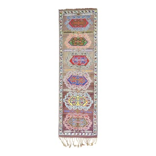 Vintage Turkish Anatolian Runner, 3'1'' x 10'2''