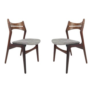 Vintage Danish Rosewood Dining Chairs - A Pair