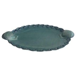 Portuguese Turquoise Seashell Platter