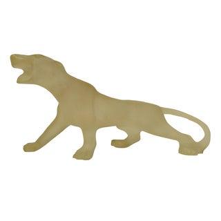 Vintage Resin Panther Sculpture
