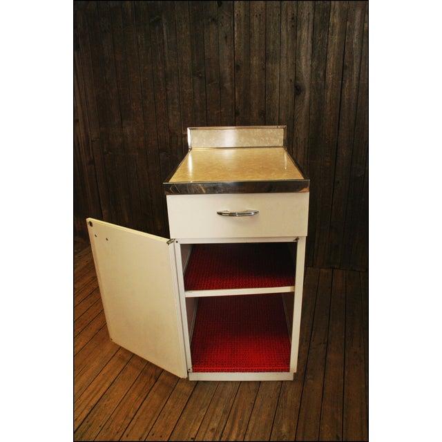 1950s Mid Century White Metal Kitchen Cabinet   Chairish