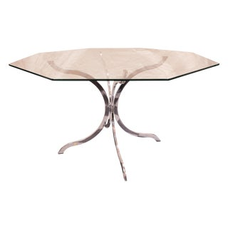 Chrome Splayed Pedestal Dining Table
