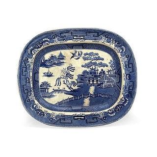 Victorian Blue Willow Platter, C. 1880