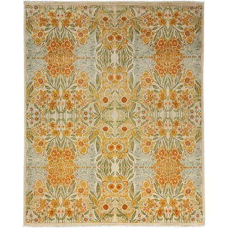 """Suzani Hand Knotted Area Rug - 8' 1"""" X 9' 10"""""""