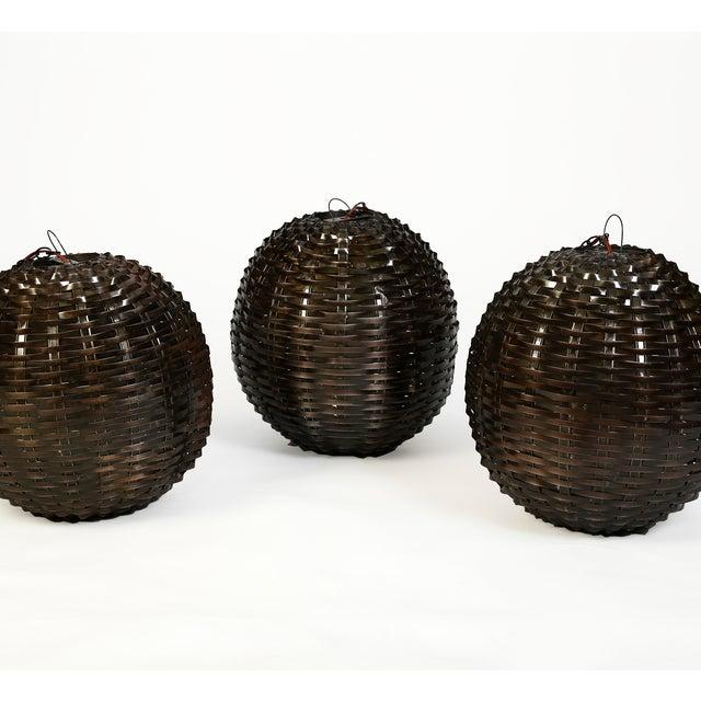 Industrial Metal Sphere Pendant Lamp - Image 2 of 2