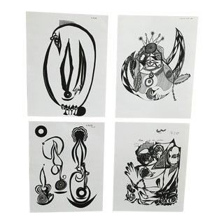 Black & White Prints - Set of 4